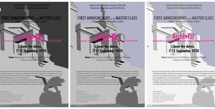 FIRST ANNOUNCEMENT FOR THE MASTER CLASS / Professor Slobodan Danko Selinkić, architect